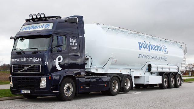 ekdahl miljö bulktransport med sin bulkbil